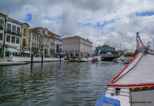 Passeio de barco em Aveiro, Portugal