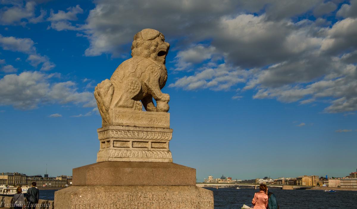 Китайские львы на Петровской набережной фото