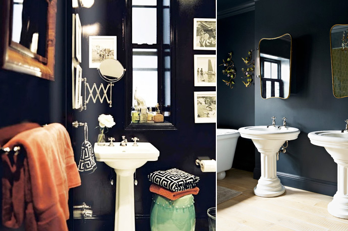 notre salle de bain noire et blanche louise grenadine blog lifestyle lyon. Black Bedroom Furniture Sets. Home Design Ideas