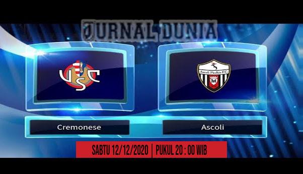 Prediksi Cremonese vs Ascoli, Sabtu 12 Desember 2020 Pukul 22.00 WIB