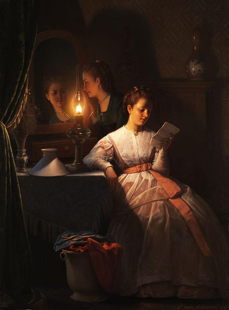 A Carta de Amor - Petrus van Schendel e suas pinturas ~ Especialista em cena noturna