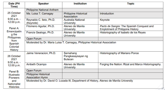 Session 2 | 2-Day Free Webinar on Ilustrado Historiography  2021 | October 25-26 | REGISTER NOW!