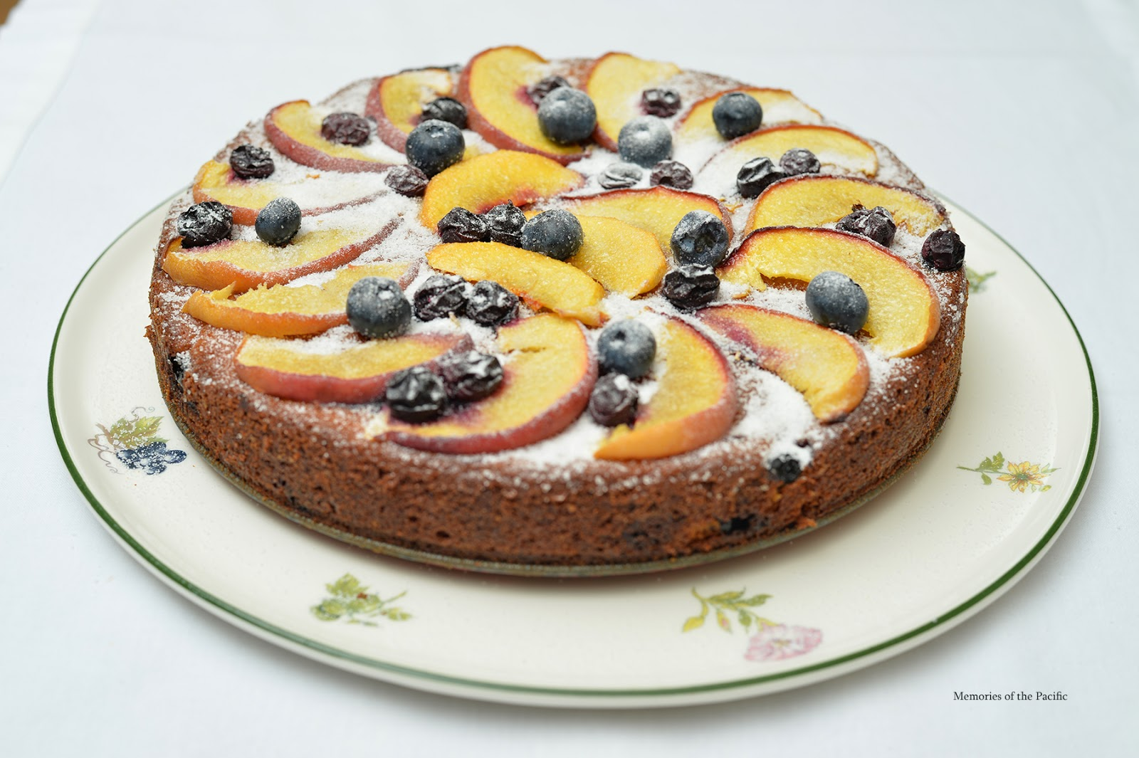 Peach, Blueberry & Greek Yogurt Cake
