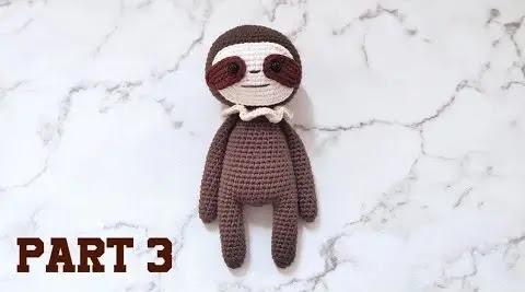 Aprende a Tejer Amigurumi Oso Perezoso a Crochet