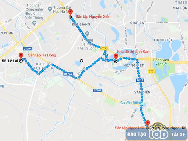 Địa chỉ sân tập lái xe hạng B1, B2, C Linh Đàm