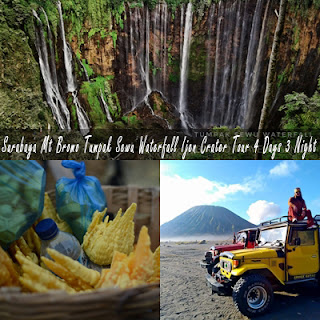 Surabaya Mt Bromo Tumpak Sewu Waterfall Ijen Crater Tour 4 Days 3 Night