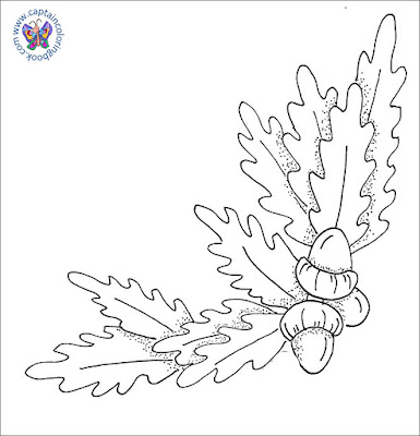 Free download coloring pages acorn
