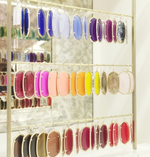 Kendra Scott earring display