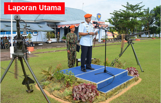 Komandan Wing Udara 7 Kolonel Pnb M. Yani Amirullah mewakili Danlanud Supadio sekaligus membacakan sambutan Kepala Staf Angkatan Udara (Kasau) Marsekal TNI Hadi Tjahjanto, S.I.P.