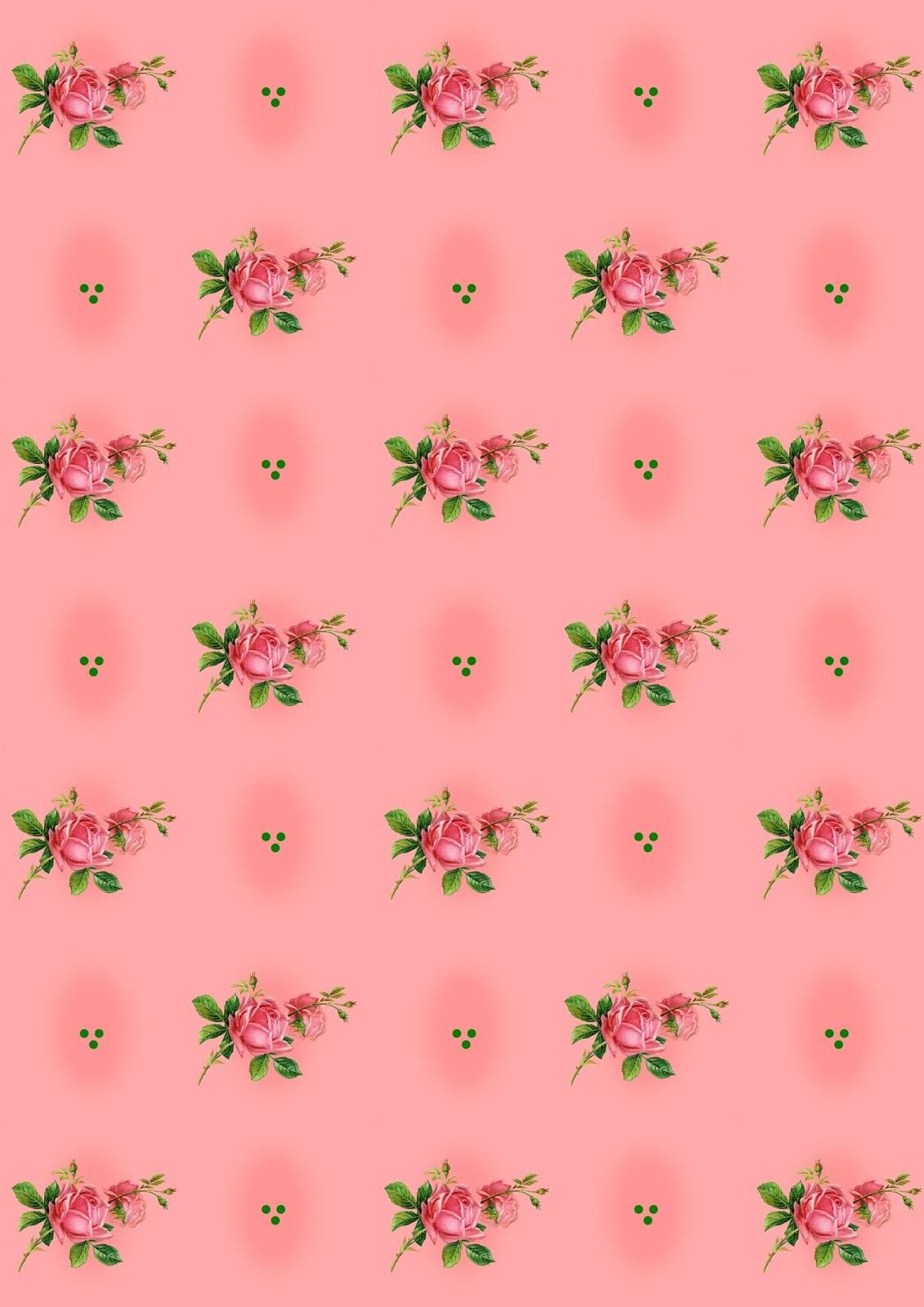 Free Digital Rose Scrapbooking Paper