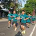 Tingkatkan Kemampuan Fisik Kodim Surakarta Laksanakan Lari Aerobik