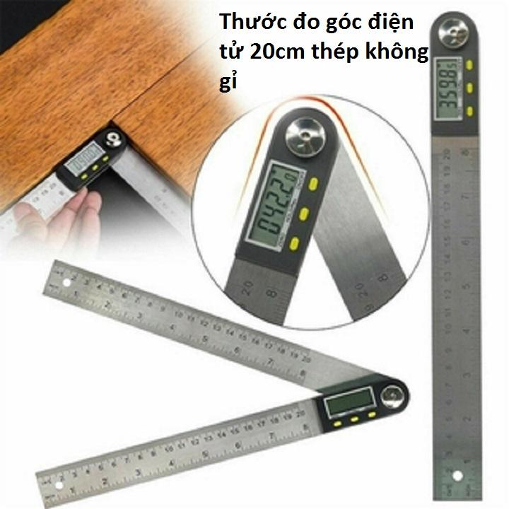 Thước đo góc điện tử 0-200mm_thép không gỉ