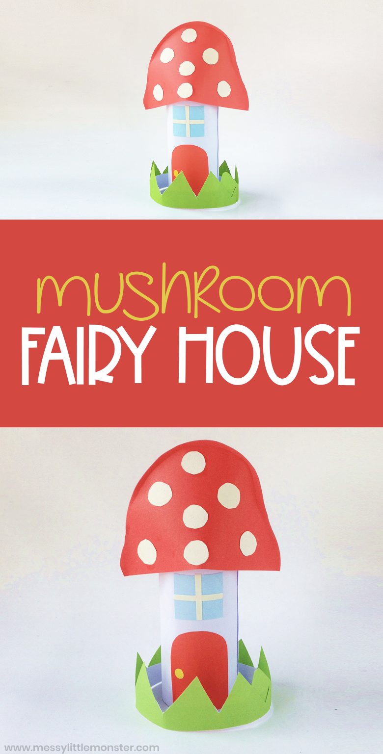 Fairy house paper craft. An easy fairy craft for preschoolers. Make a village of fairy garden houses.