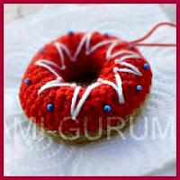 Donut glaseado amigurumi