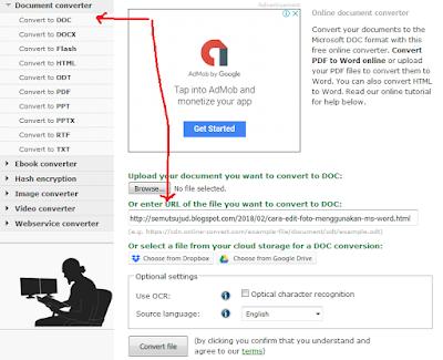 Cara Convert Halaman Web Menjadi Microsoft Word