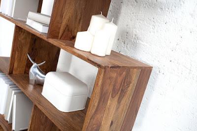 masívny nábytok Reaction, dizajnový nábytok, police z masívu