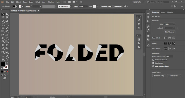 Folded Text Effect in Adobe Illustrator