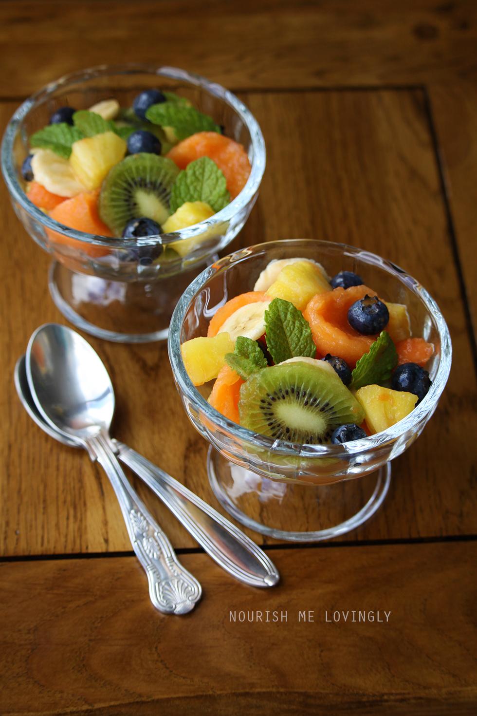 tropical fruits fruit bowls