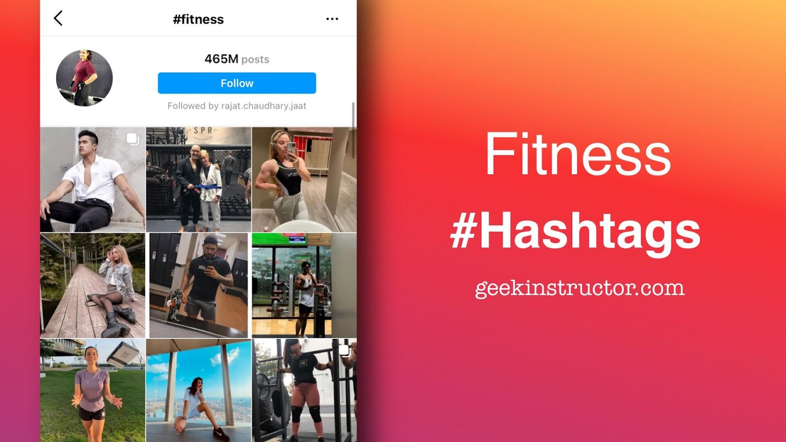 Fitness and gym hashtags for Instagram