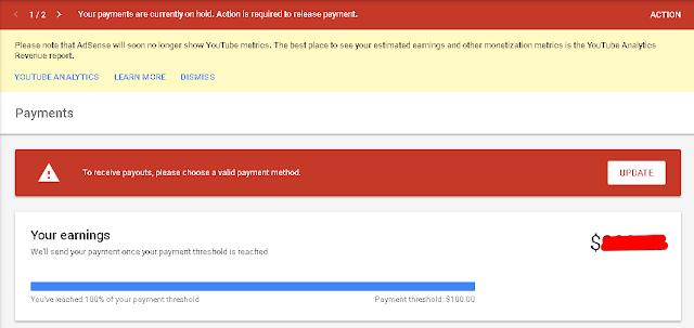 Cara Mengatur Pembayaran Google AdSense Melalui Western Union