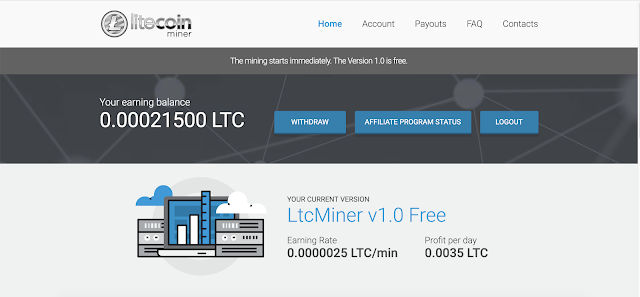 Litecoin Miner (ltcminer.us) review, Is it a SCAM or a Legit Crypto mining site?
