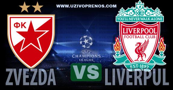 Liga šampiona: Liverpul - Crvena zvezda uživo prenos
