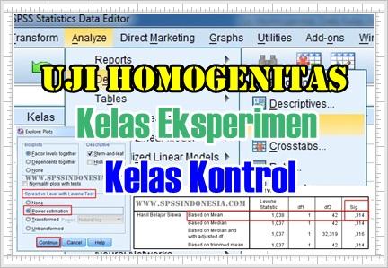 Uji Homogenitas Data Kelas Eksperimen dan Kontrol dengan SPSS