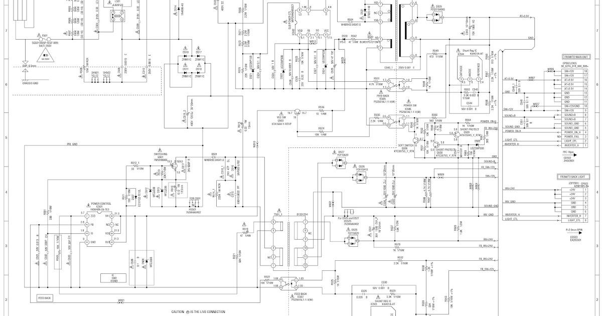lcd tv schematic diagrams