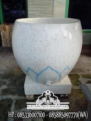 Bak Mandi Marmer Type Gentong, Jual Bak Mandi Marmer Minimalis