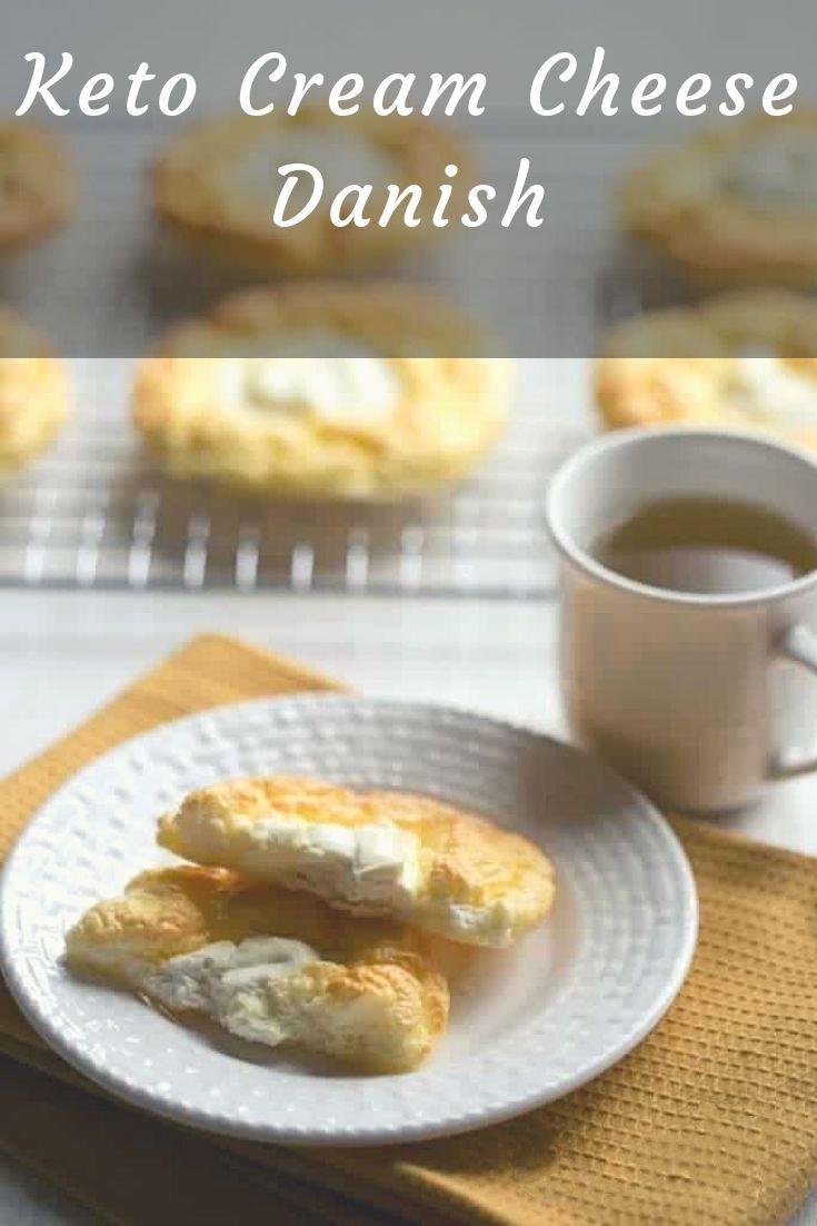 A cloud bread danish makes a tasty Keto diet breakfast // keto breakfast ideas // low carb cheese danish // keto sweets //