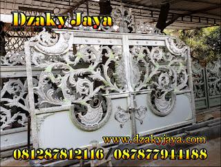 Proses Pembuatan Pintu Pagar Besi Tempa Klasik untuk wilayah Ambon.