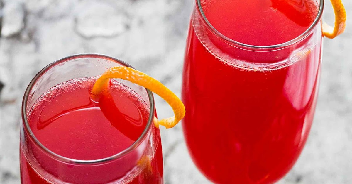 Blood Orange French 75 Cocktail - Your Recipes Here