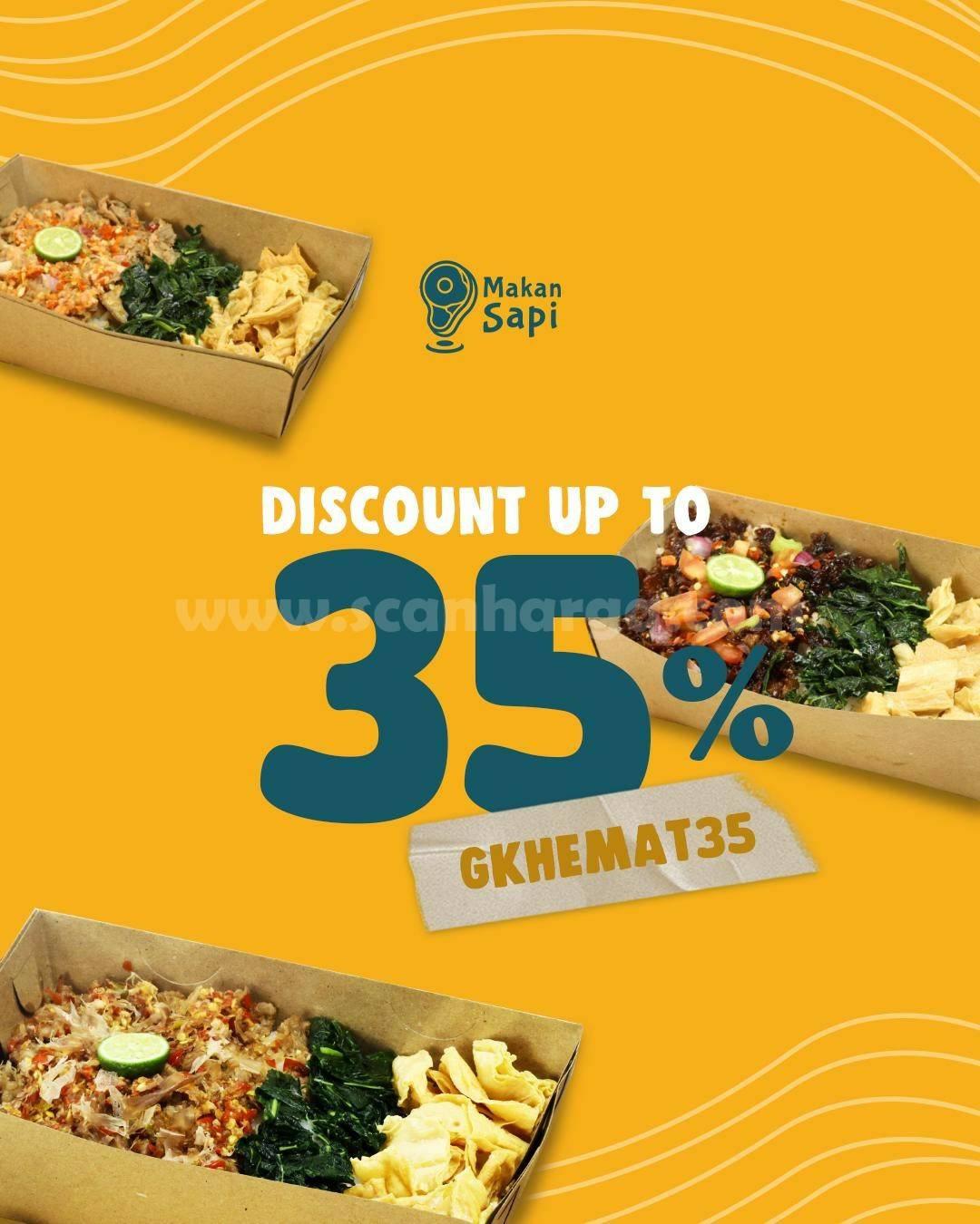 MAKAN SAPI Promo DISKON hingga 35% khusus pemesanan via GRABFOOD