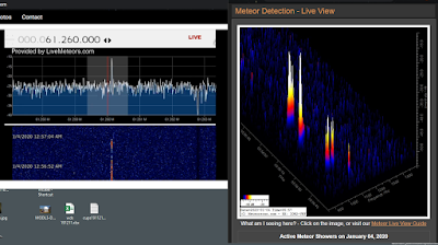 meteor scanning, audio and visual, 1:00 AM