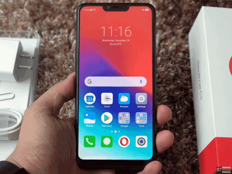 Massive 6.2-inch screen with Gorilla Glass 3