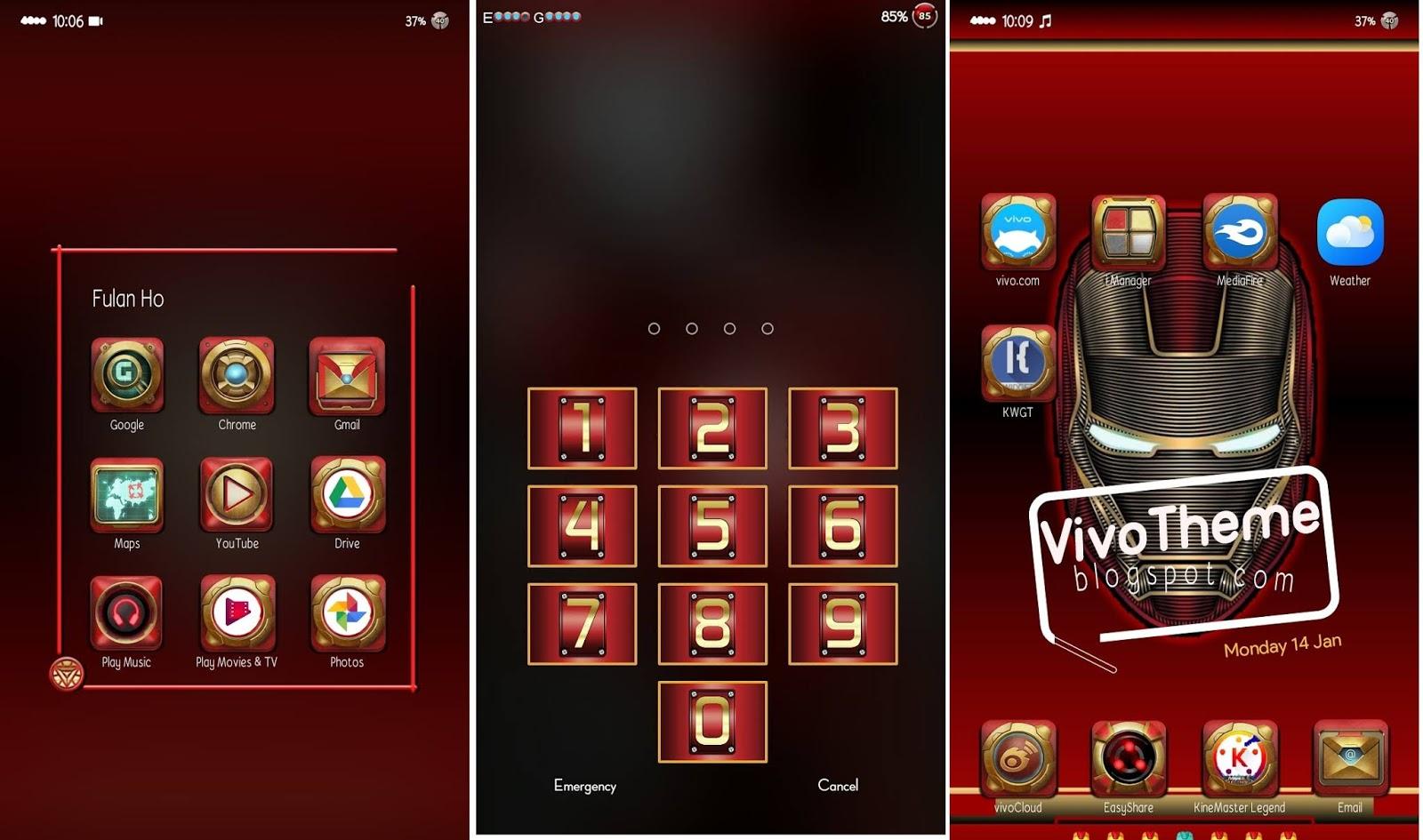 Iron Man Theme itz For Vivo - Theme VIVO Terbaru
