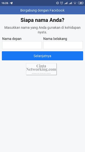 Cara Membuat Akun Facebook Di Hp Android Xiaomi Redmi 4a - Cintanetworking.com