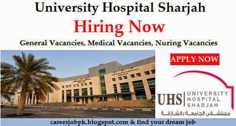 University Hospital Sharjah Nursing Jobs