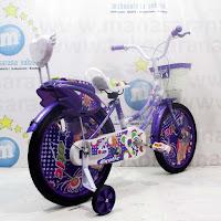 18 purple exotic sepeda anak perempuan