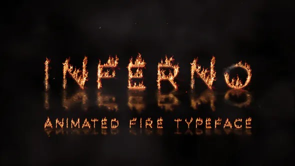 Videohive Inferno – Animated Fire Typeface 28383531