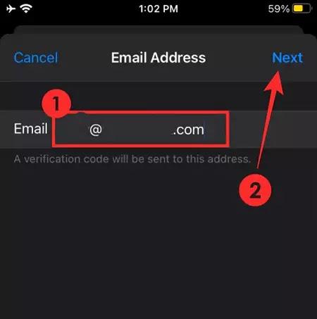 تغيير البريد الإلكتروني iCloud 5