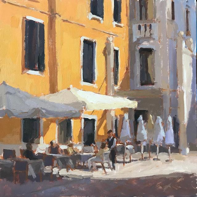 #425 'Venetian Cafe' 30x30cm