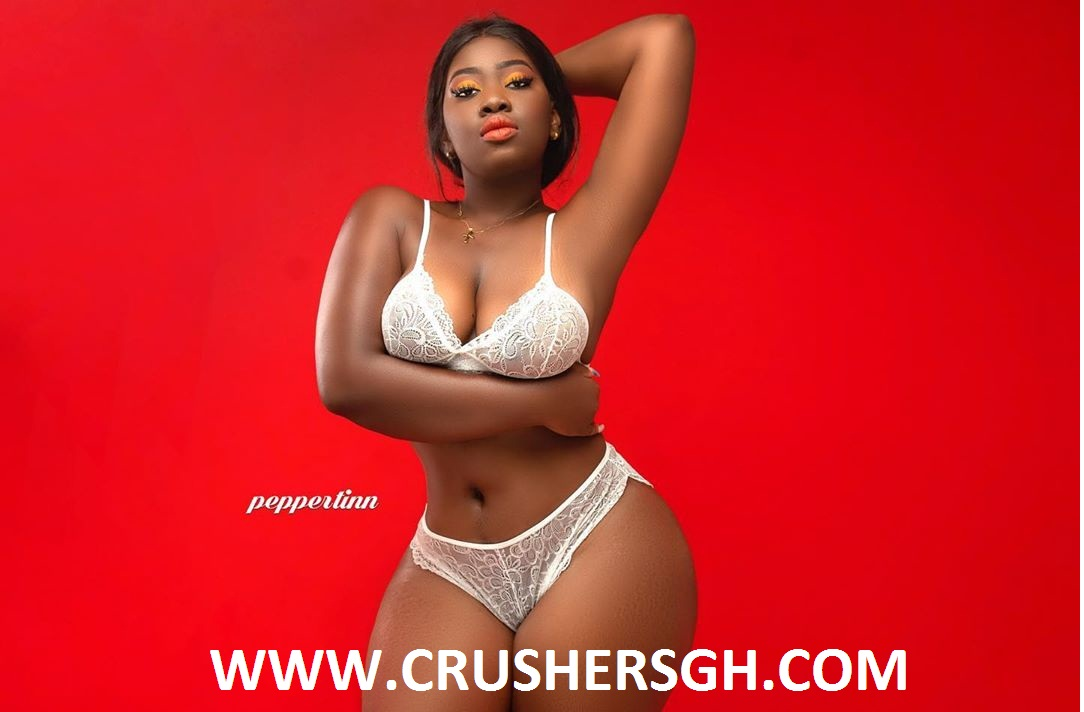 Ghanaian Slay Queen Shugatiti Steps Out Looking Gorgeous And Smashing In Her White lingerie | New Photo Shoot