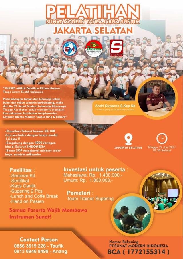 Pelatihan Sunat Modern Tanpa Jarum Suntik Lokasi Jakarta Selatan