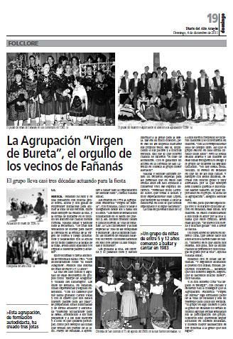 La Agrupación Virgen de Bureta, el orgullo de los vecinos de Fañanás