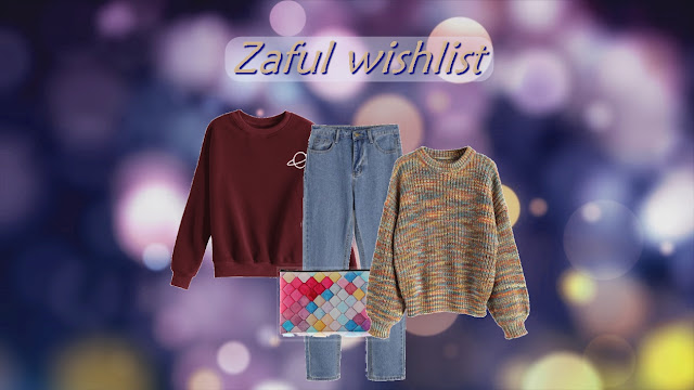 zaful, my wishlist, višlista, džemper, sweater, oversized, cozy, udoban, šaren, warm, topao, moda, fashion, winter, zima, traperice, jeans, multicolor,
