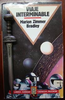 Portada del libro Viaje interminable, de Marion Zimmer Bradley