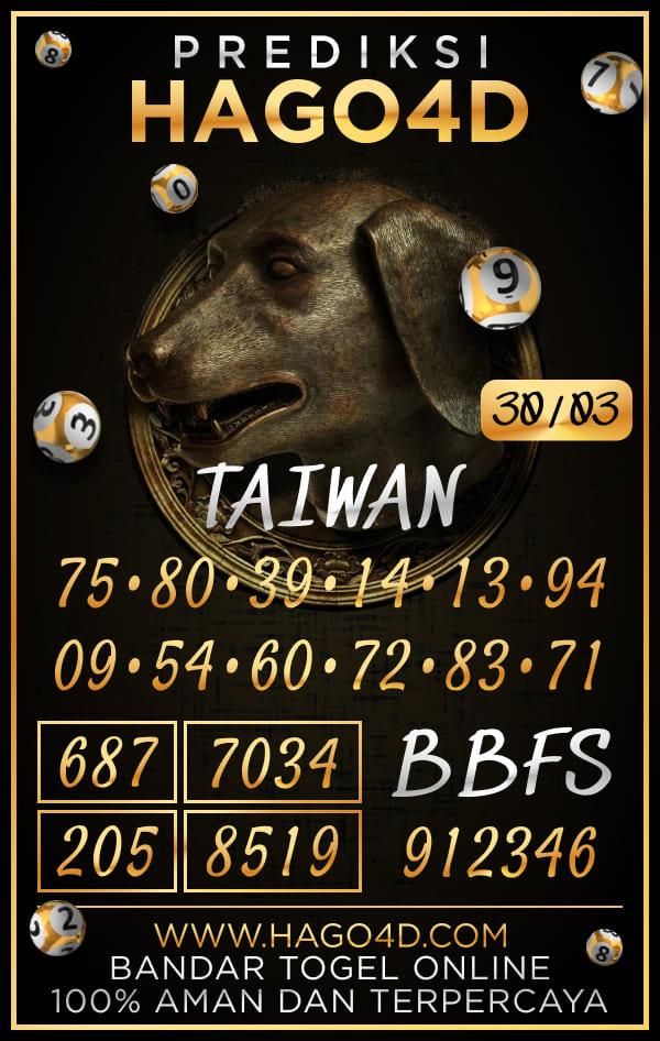 Prediksi Hago4D - Selasa, 30 Maret 2021 - Prediksi Togel Taiwan