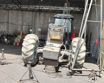 Trator roubado há quatro anos em Valença é recuperado pela polícia em Cruz das Almas