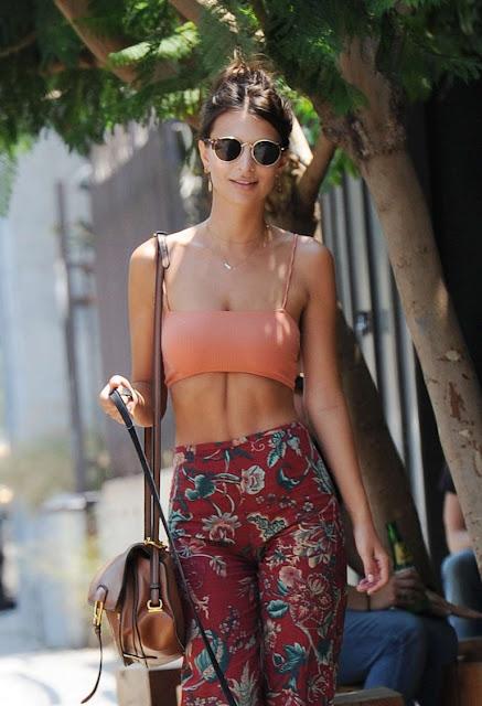 Emily Ratajkowski – Walking her Dog in Los Angeles